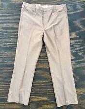 Vtg Laredo Brown Microfiber Mens Western Cut Suit Pants 40 Mint Condition!