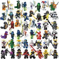 Ninjago Ninja Lot 48 Figures Blocs Ninja Hero Kai Jay Cole Zane Nya Armes Jouet