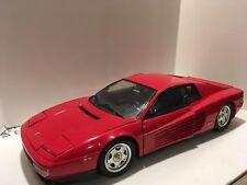 Pocher Italy 1/8 scale Ferrari Testarossa coupe in red assembled