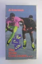 "*Rare* Vintage Rollerblade ""The Ride Continues"" inline skate video Vhs 1989"
