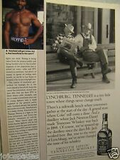 "2002 Jack Daniel's Ad 8.5 x 10.5""1/2 Page Ad-Men On Bench News Original Print Ad"