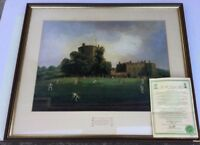 The Ashes Centenary Print Numbered 765/1500 Framed