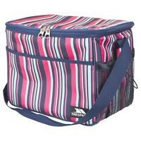 Trespass Large Striped Cool Bag with Straps For Camping Picnic Lunch 15L