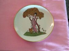 KAISER W Germany Plate: Orange tree with Beautiful Girl Trimmed in Gold.