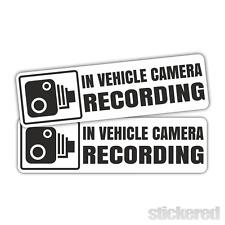 2 x nel veicolo Telecamera Auto Registrazione / finestra Vinile Adesivi Decalcomanie 120mm x 35mm