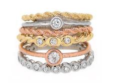 Tri Color Band Diamond Ring