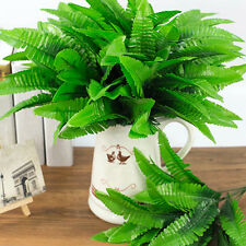HK- 1Pc 7 Branches Home Party Decor False Plant Artificial Fern Leaves Exotic