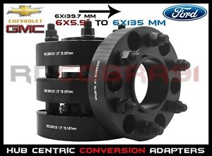 4Pc Chevy To Ford | 6x5.5 To 6x135 MM Wheel | Hub Centric Wheel Spacers Adapters