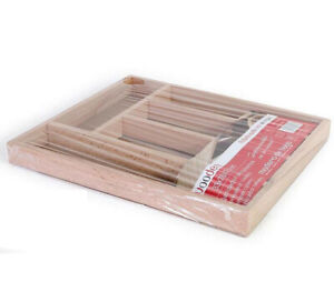 PRIVILEGE BEECH WOOD Cutlery Tray Holder Tidy Drawer Draw Organiser Storage