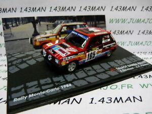 RIT18M 1/43 IXO Altaya Rallye : TALBOT SAMBA Rallye F.Delecour Monte Carlo 1984