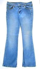 Blue Jeans Sz 11/31 Bootcut 5 Pocket Light Wash Fleur de Lis Button Detail
