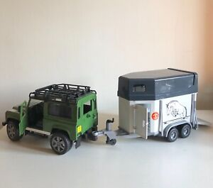 Childs Land Rover Defender and Horse Box Trailer