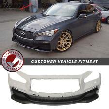 Fits 14-17 Infiniti Q50 4Dr Eau Rouge ER Style V2 PP Front Bumper Conversion