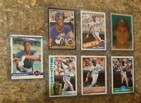 7) Darryl Strawberry 1984 Fleer Topps Rookie Card lot RC + 2nd 1985 Donruss Mets