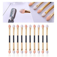 5Pcs Gold Double-ended Eyeshadow Stick Sponge Powder Puff Brush Manicure Tool