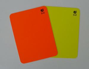 Sport Schiedsrichter Karten Set Rote Karte Gelbe Karte mit Tasche und Metall ...