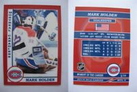 2015 SCA Mark Holden Montreal Canadiens goalie never issued produced #d/10