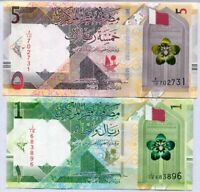 Qatar Set 2 Pcs 1 5 Riyal 2020 P New UNC