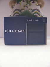 NWT- Cole Haan Men's Pebbled Leather Tri-Fold Wallet-Black- Free Shipping-