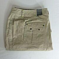 New Lane Bryant Venezia Size 24 Khaki Tan Beige Stretch Bermuda Shorts