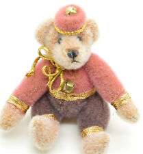"Vintage Miniature Jointed Mohair Teddy Bear By Pamm Bacon OOAK 3.5"" Nutcracker"
