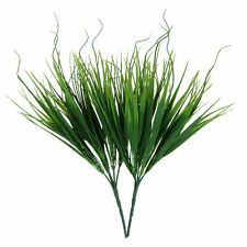 2pcs Feuille Plante Bush Herbe Artificielle Decoration de La Maison Vert WT