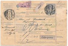 AUSTRIA-1910 Government P.O.form- Wien,Baden,Zoll Amt Buchs(Switzerland) strikes
