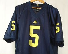 Adidas Michigan Wolverines NCAA Basketball #5 Short Sleeve Blue Shirt L NWOT