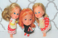 Vintage 1960s Kiddle clones doll lot