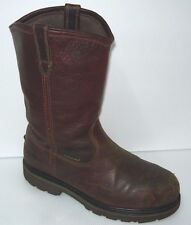 Hytest Style# K15271 Brown Distressed leather 12'' Steel toe Boots Sz 9.5
