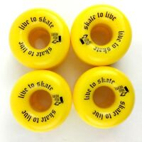 Skateboard Wheels 62mm X 38MM YELLOW skate to live  88A  A5