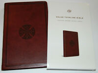 ESV Bible, Brown Imitation Leather Cover, English Standard Version, Thinline