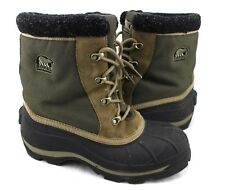 SOREL Monashee NL1130-263Olive Green Brown Black Duck Snow Winter Boots 9.5