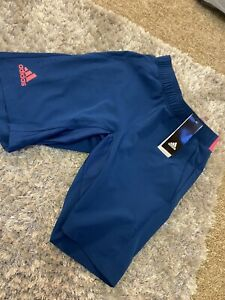 womens adidas cycling shorts XS Brand New With Tags Blue & Pink RRP£28.99