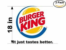 burger king bk 2 Stickers 18 Inches Sticker Decal