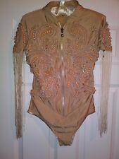 new asos premium A STAR IS BORN tassel dress bodysuit cold shoulder 4 us 8 uk