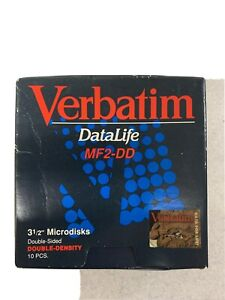 Verbatim DataLife Double Density 3 1/2 Microdisks MF2-DD Double-Sided 9 ONLY