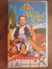 The Wizard Of Oz Vintage VHS Videotape Home Video PAL