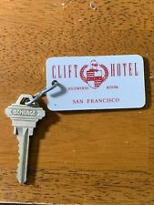Clift Hotel Motel Room Key Fob with Key San Francisco California #803