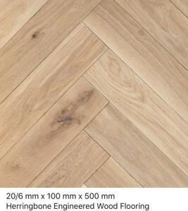 Herringbone Shrewsbury Oak Rustic 20/6 x 100 x 500mm  engineered wood flooring