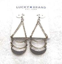 Lucky Brand Gold Design Drop Earrings