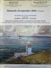 Catalogue de vente : Marine Sciences Voyage carte Hommage à Paul Budker