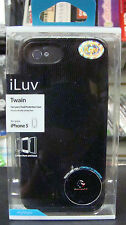 ILUV ICA7H328BLK for iPhone 5 Twain Dual Protection Case (Black)