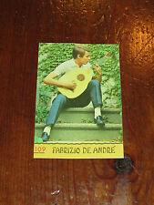 FIGURINA PANINI CANTANTI 1968 RECUPERATA N°109 FABRIZIO DE ANDRE'