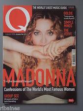 Q Music Magazine March 1998, Alan McGee/Goldie/kristin Hersh/Simple Minds