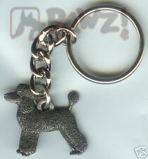 Poodle Puppy Cut Dog Fine Pewter Keychain Key Chain Ring New
