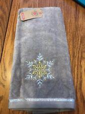 "Create Decorate Celebrate ""Snowflake"" Hand Towel Cotton 16""x 25"" Ships N 24h"