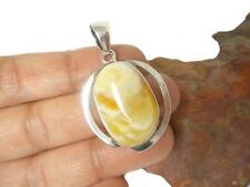 Butterscotch  AMBER  Sterling  Silver  925  Gemstone  PENDANT  -  Gift Boxed