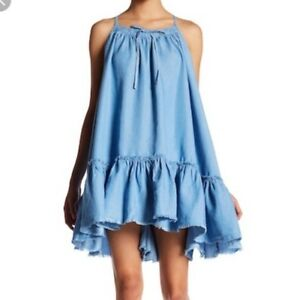 Romeo & Juliet Couture Chambray Blue Denim Dress Size M 86027