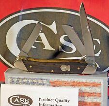 Case XX Medium Stockman Ebony Wood Slanted Bolsters Stainless Knife